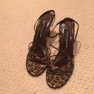 Evan-Picone Leopard 🐆 Strappy Heels